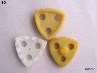 Транспортни и почистващи елементи с пластмасова пъпка.